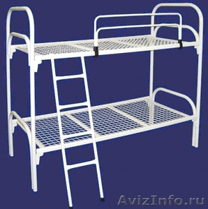 кровати двухъярусные, одноярусные со спинками дсп, для строителей  - Изображение #1, Объявление #689436
