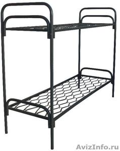 кровати двухъярусные, одноярусные со спинками дсп, для строителей  - Изображение #4, Объявление #689436