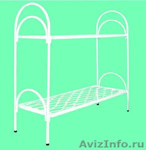 Трёхъярусные металлические кровати для общежитий, кровати металлические дёшево - Изображение #1, Объявление #1478855