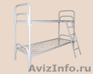 Трёхъярусные металлические кровати для общежитий, кровати металлические дёшево - Изображение #3, Объявление #1478855