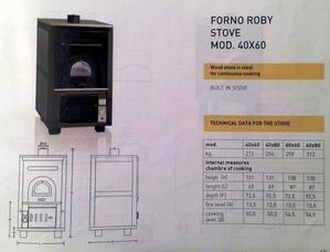 Варочная дровяная печь с духовкой Roby 40x60 (Италия). - Изображение #5, Объявление #1539211