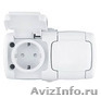 Рондо IP44 Розетка н/у 2-ая с з/з РА16-227Б  Schneider Electric