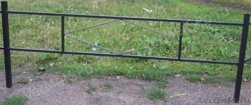 Металлические оградки своими руками